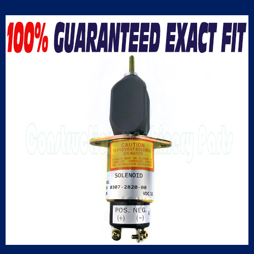 Fuel shut off solenoid 0307-2820-00 12V for Onan Cummins Generator fuel shutdown solenoid valve shut off stop f1hz 9n392 a for cummins vw ford 12v