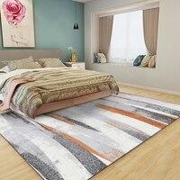 Nordic pintura a tinta abstrata tapete geométrico para sala de estar não-deslizamento tapete crianças quarto cabeceira grande área casa tapete tapete