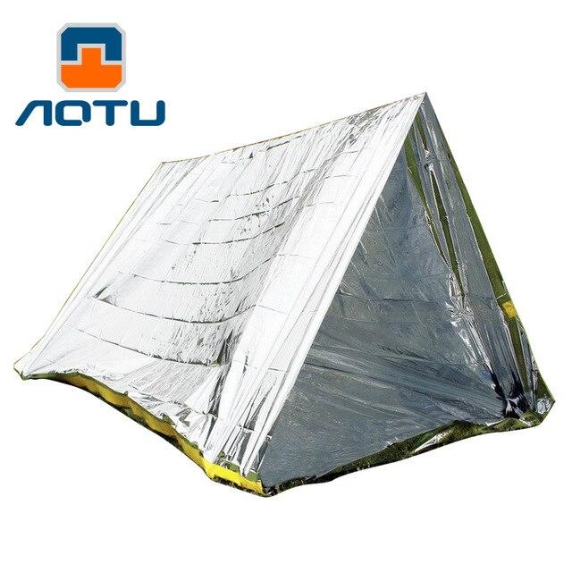 2017 New Outdoor Double Simple Tent PET Emergency Heat Relief tents Warm Life Saving Survial Blanket