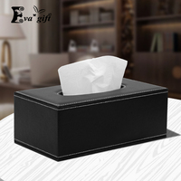 High quality PU leather tissue box for Home Office Hotel Car Facial paper towel storage box fashion Home Organizer Decoratio