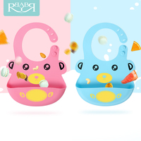 Baby Bibs Feeding Cartoon Children Newborn Rice Pocket Waterproof Bibs Cute Boy Girls Bibs Babador Scarf