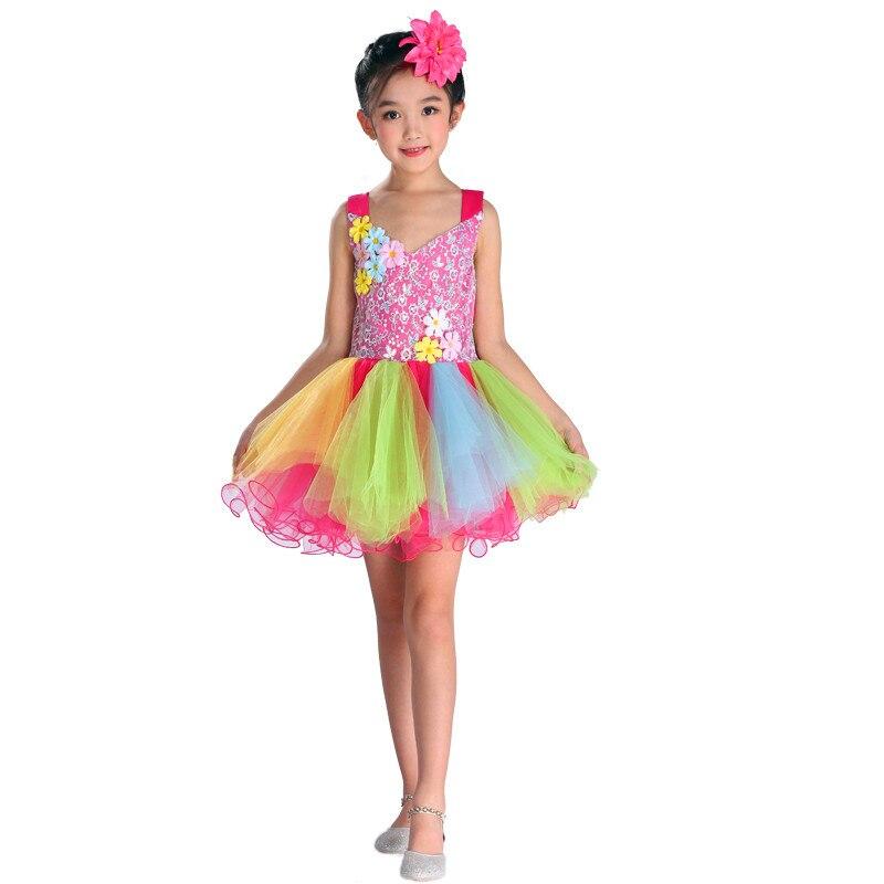 0b8dbf04ba23de Detail Feedback Questions about Jazz modern contemporary dance dress for  girls Pink dancewear girls kids dance costume salsa dance dress for girls  kids on ...