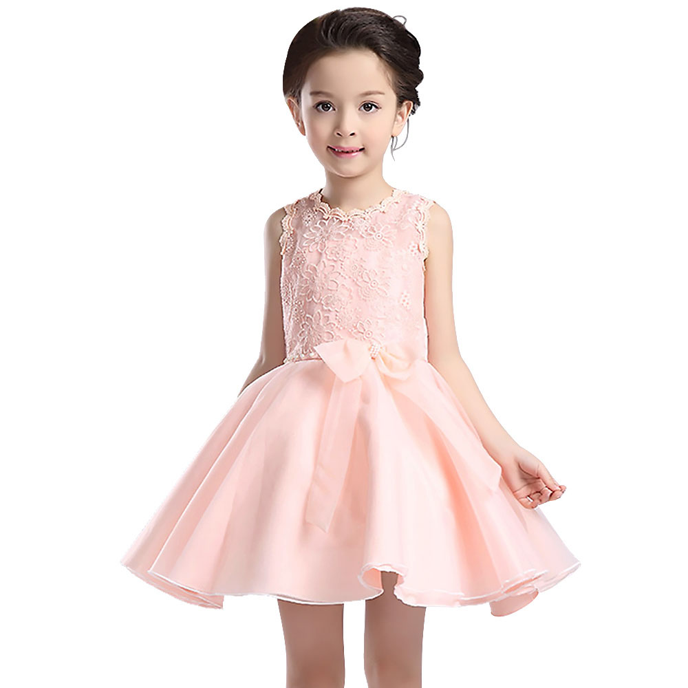 2016 Beauty Princess baby party frocks Lace Flower Girl Dresses special occasions pink/purple Ball Gowns holy communion dress