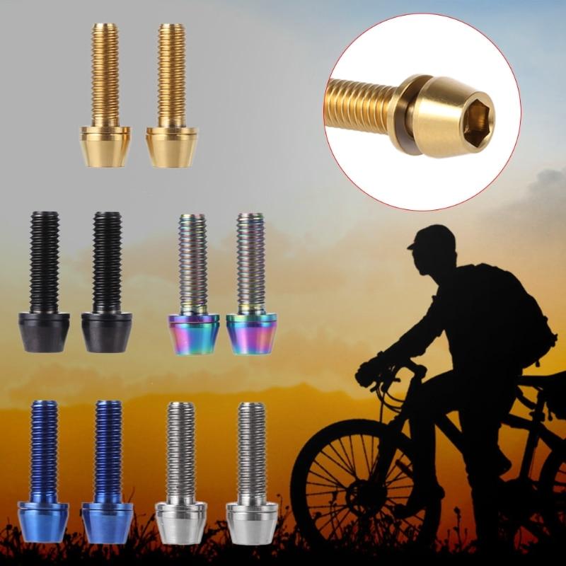 4Pcs Titanium Bicycle M6 *8//10//16mm Allen Hex Bolt Tapered Head Screws V Brake