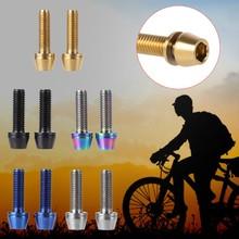 Keenso 6Pcs M5*16mm Bike Stem Screw Bicycle Stem Bolts Titanium Stem Bolt Fixed Stem Bolts for Mountain Bicycle Stem Parts Gold