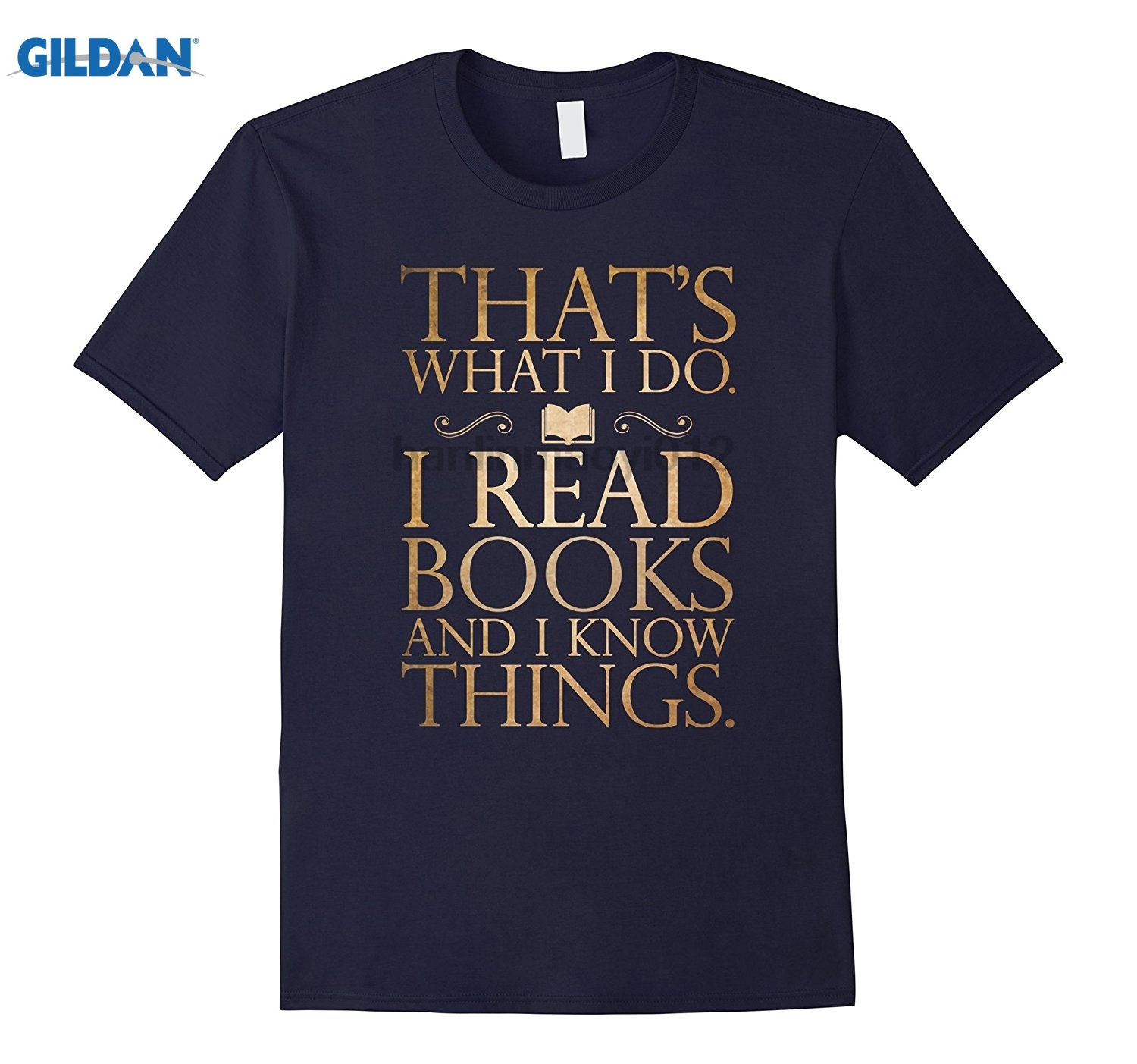 GILDAN I READ AND I KNOW THINGS T-SHIRT Funny Book Lovers Readers glasses Womens T-shirt ...