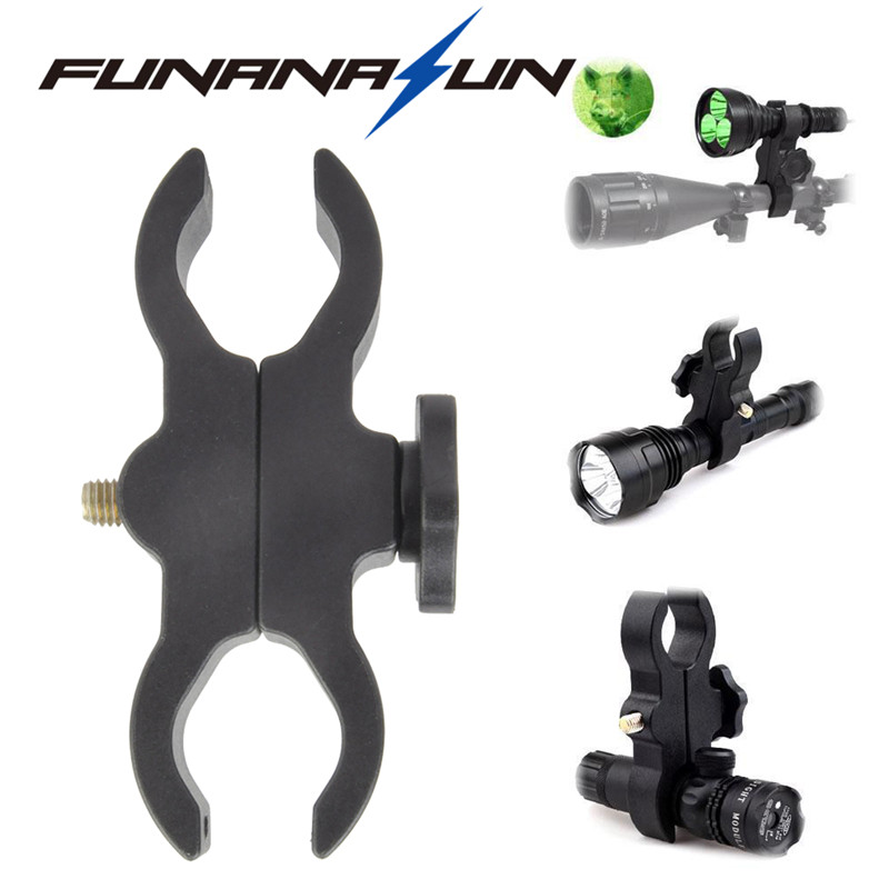 Tactical Flashlight Mount Clamp Bicycle Led Torch Clip Hunting Airsoft Pistol Shotgun Telescope Sight Laser Scope Clip Mount universal mount adapter cycling bicycle handlebar mount clamp holder aluminum alloy flashlight laser torch sight scope clamps