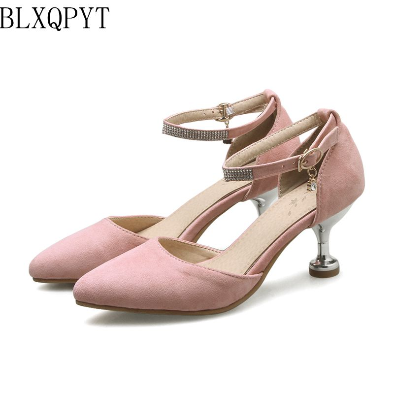 BLXQPYT Hot Sale sexy fashion Pointed Toe High Heels Sandals Women Big & Small Size 31- 47 Ladies Wedding Dance shoes woman 559 2017 new hot sale sandals women big and