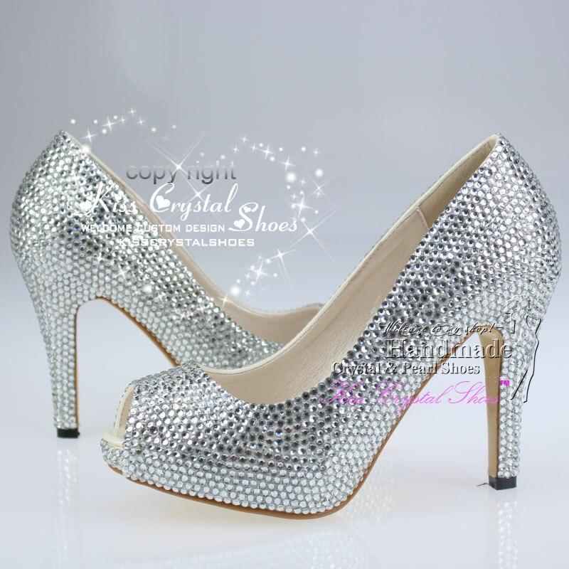 Silver Medium Heels | Fs Heel
