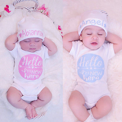 Newborn Baby Girl Boy Clothes Quote Bodysuit Jumpsuit Outfits One-pieces
