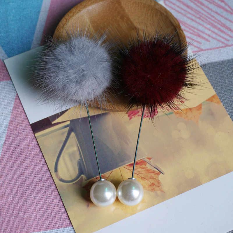 빈티지 브 로치 핀 unisex 밍크 모피 브로치 여자 남자 스웨터 점퍼 귀여운 브로치 선물