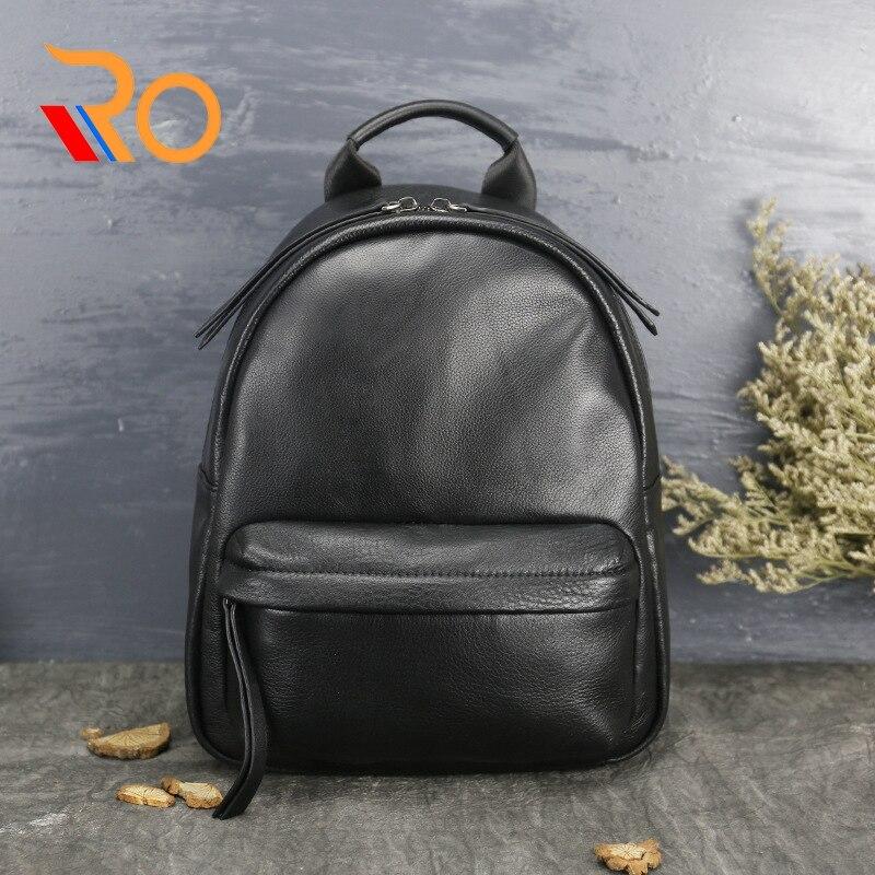 Femmes sac à dos en cuir véritable sac à dos femmes sac de voyage collège haute qualité sac d'école pour les adolescentes filles Mochila Femininas