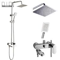 Bathroom Shower Set 8 10 12 Inch Rain Shower Head Bath Shower Mixer With Hand Shower