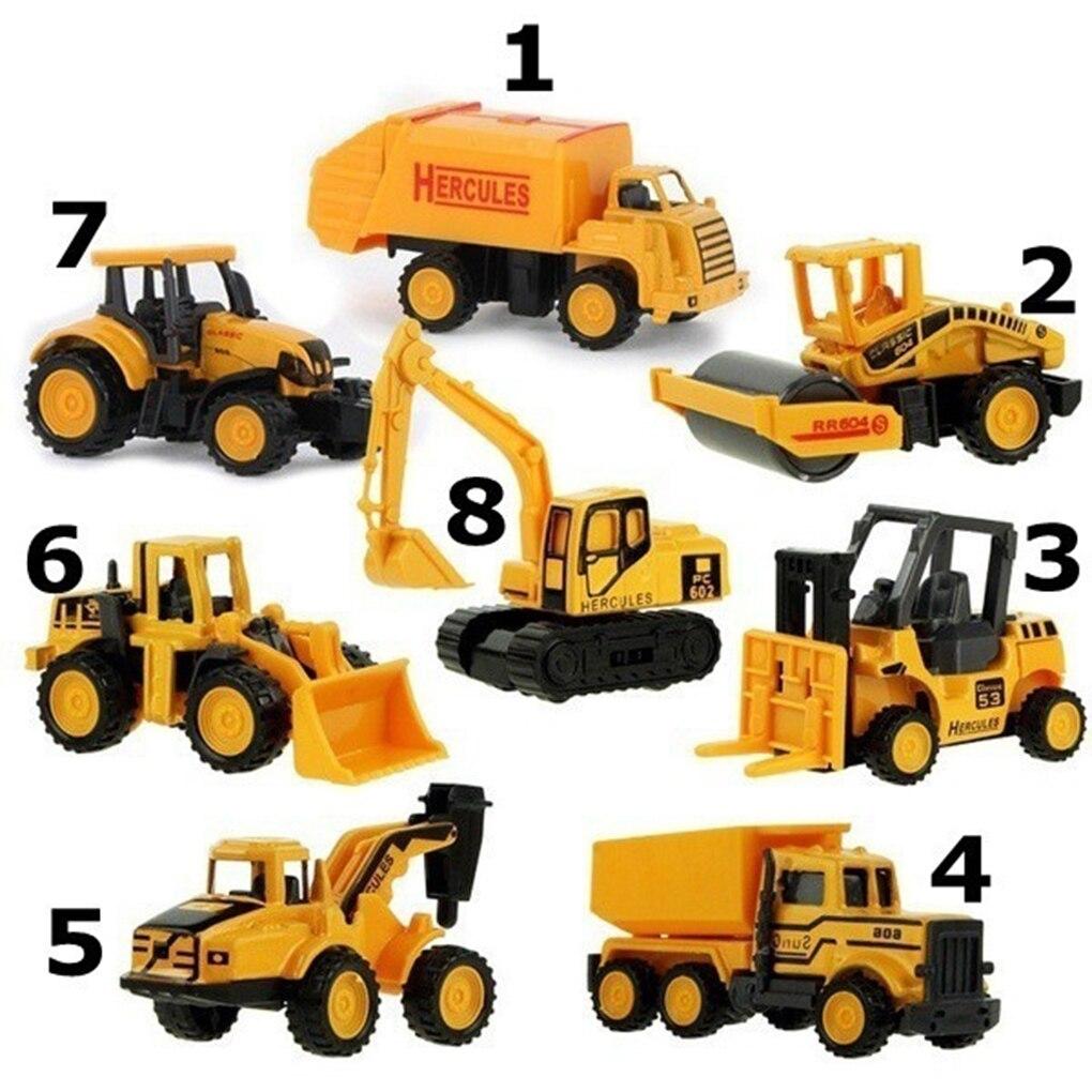 Mini Plastic Alloy Construction Vehicle Engineering Car Truck Model Kid Children Classic Toy