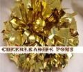 "cheerleading Pom poms 3/4""x 6""~custom color metallic gold mini order 10 pieces"