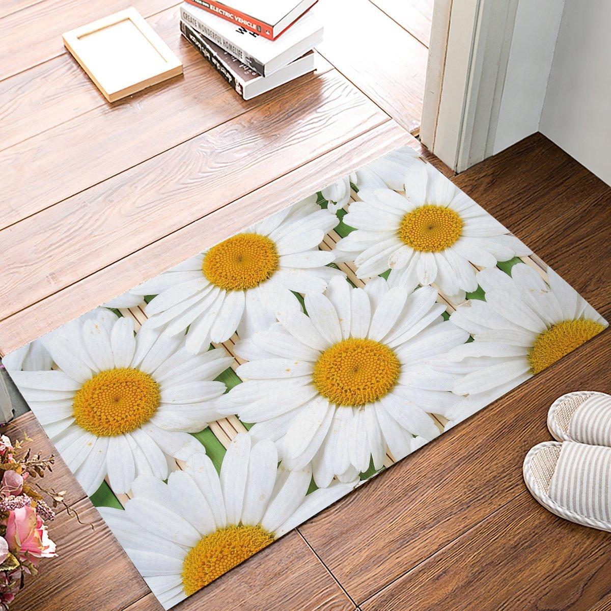 Daisy Kitchen Decor: Fresh Daisy Door Mats Kitchen Floor Bath Entrance Rug Mat