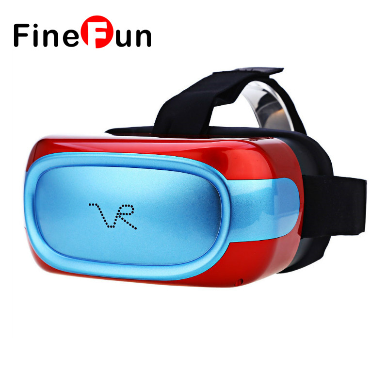 FineFun EVR01 Smart 3D Virtual Reality Glasses Support 3D Movie/Games/Video All In One VR Box RK3126 Quad Core Android 5.1 vrmira i fov90 rk3126 andriod6 0 all in one vr virtual reality headset
