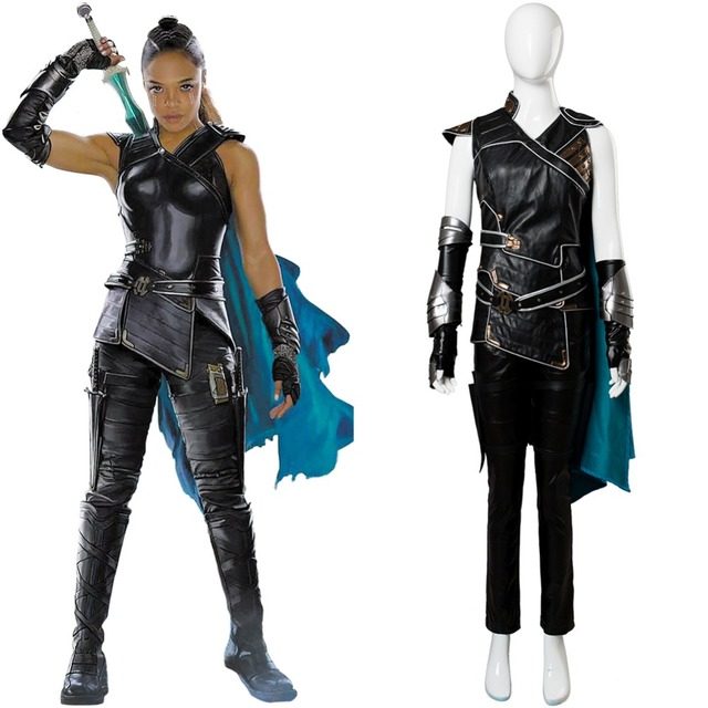 Thor 3 Ragnarok Valkyrie Cosplay Costume Battle Suit Costumes Full Sets
