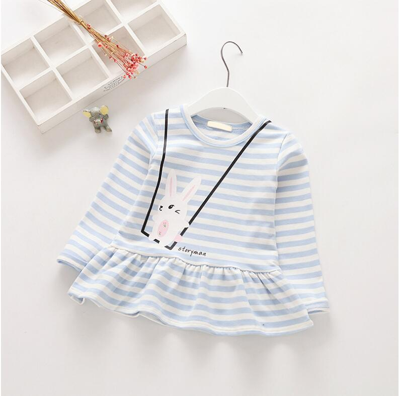 size Spring Baby Girl T Shirt For Girls Tops Stirped Sweatshirt For Girls Clothes Fashion Baby Top Kids Clothes Tee TShirt