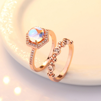 Exquisite Bridal Marriage Engagement Ring Shiny Silver Pure Natural Crystal Fire Opal Ring High Jewelry