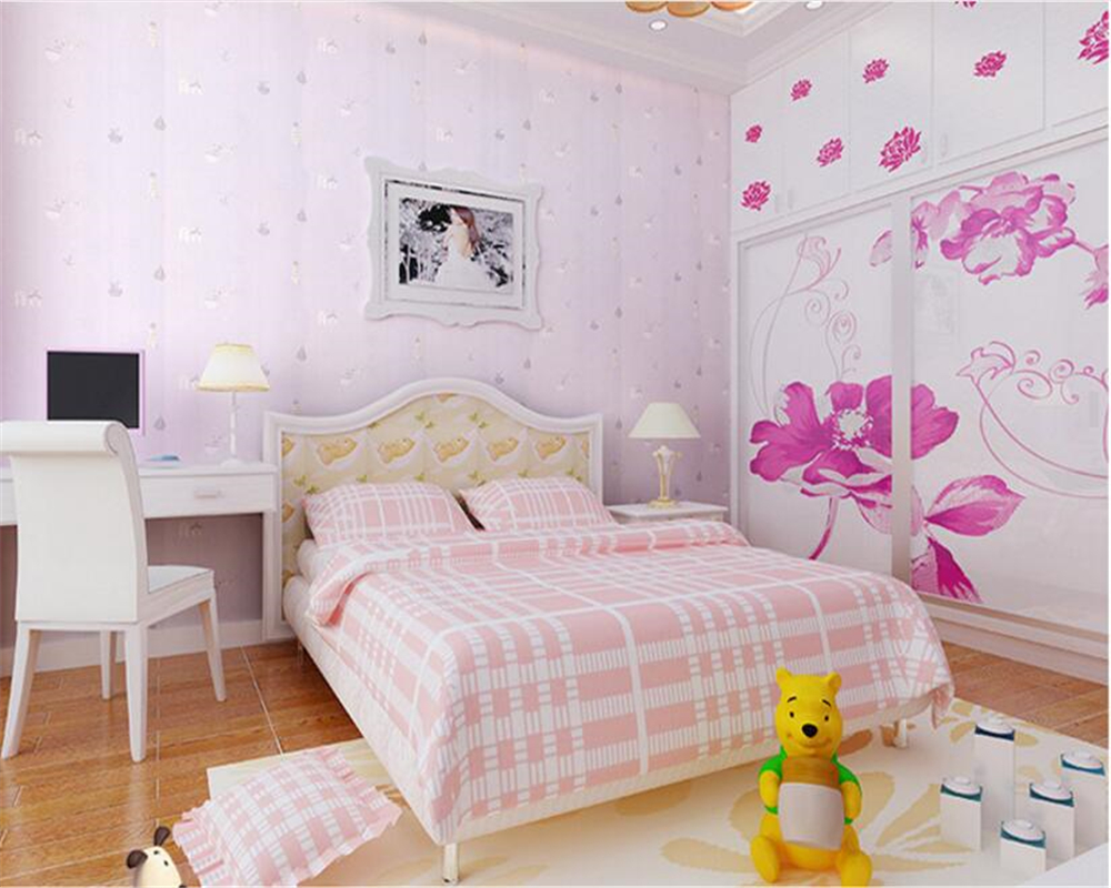 beibehang papel de parede Non-woven wallpaper green children's room stereo bedroom boy girl bedroom living room background wall beibehang wallpaper high grade environmental protection non woven wallpaper girl boy room room striped wall paper car children