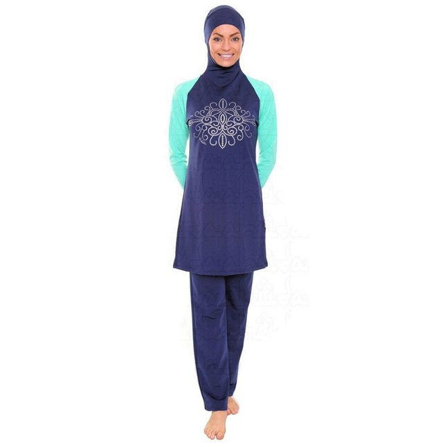 8eeb2f75338a6 5XL-S Plus Size Islamic Clothing Women Full Cover Muslim Swimwear Nylon Islamic  Swimsuit Long Conservative Muslim Bathing Suit