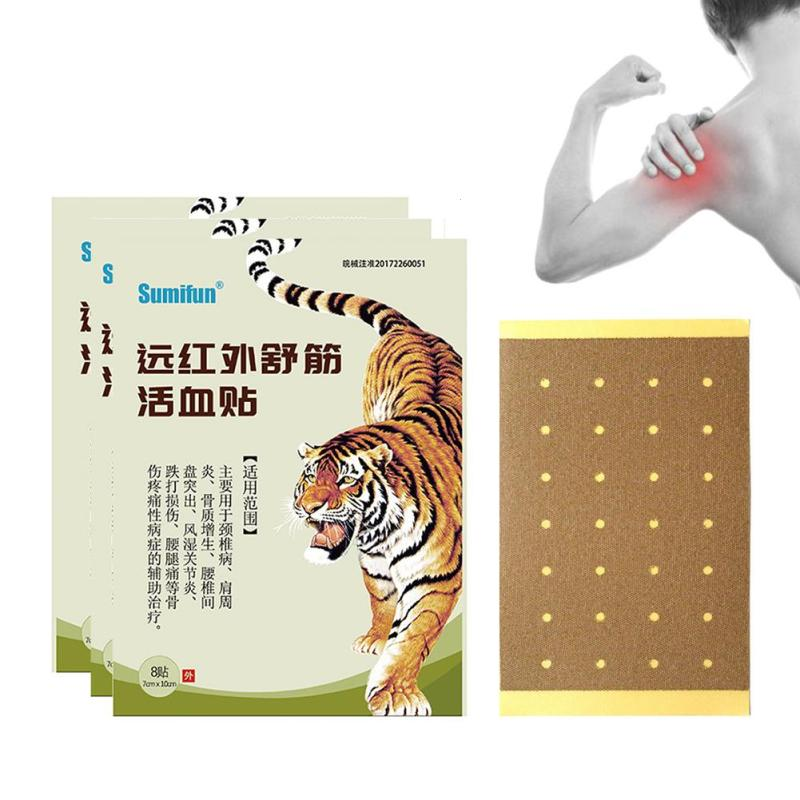 16 Pcs/2 Bag Red Tiger Balm Plaster Hyperplastic Ointment Medical Pain Paste Body Relaxation Cervical Pain Sticker U3