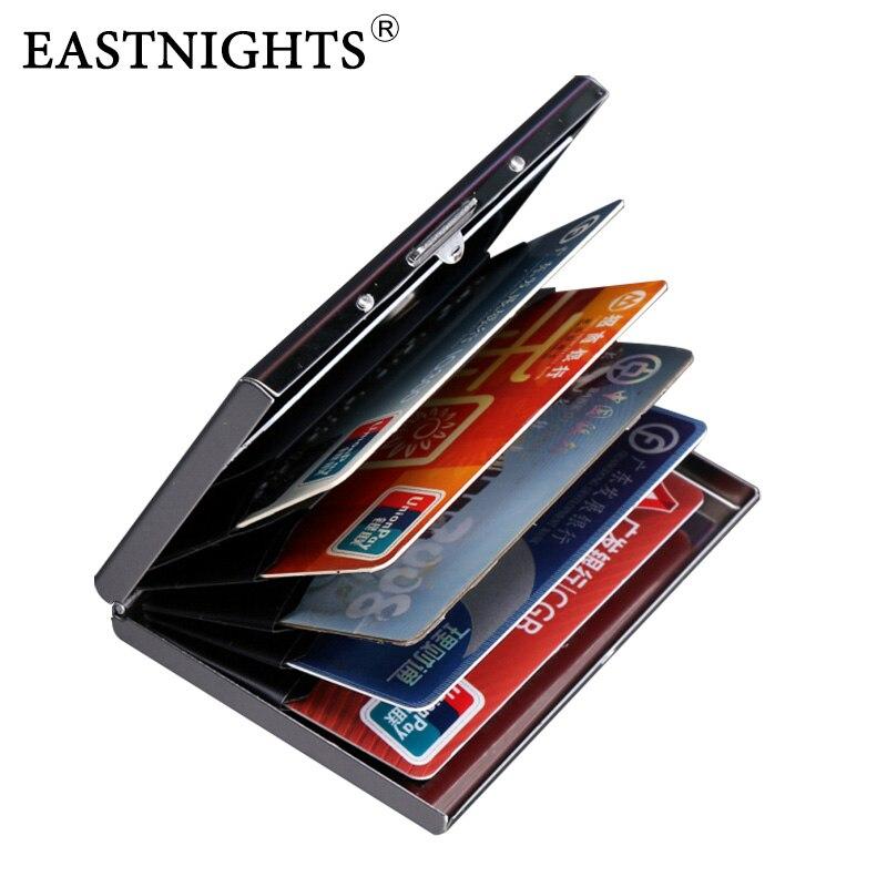 EASTNIGHTS 2018 neue ankunft Hochwertigem edelstahl männer kreditkarteninhaber frauen metall scheckkarte-kasten karte box TW2703