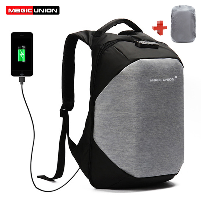 4608c82f90f7 MAGIC UNION Children School Bags boy Backpacks Brand Design Teenagers Best  Students Travel Usb Charging Waterproof Schoolbag