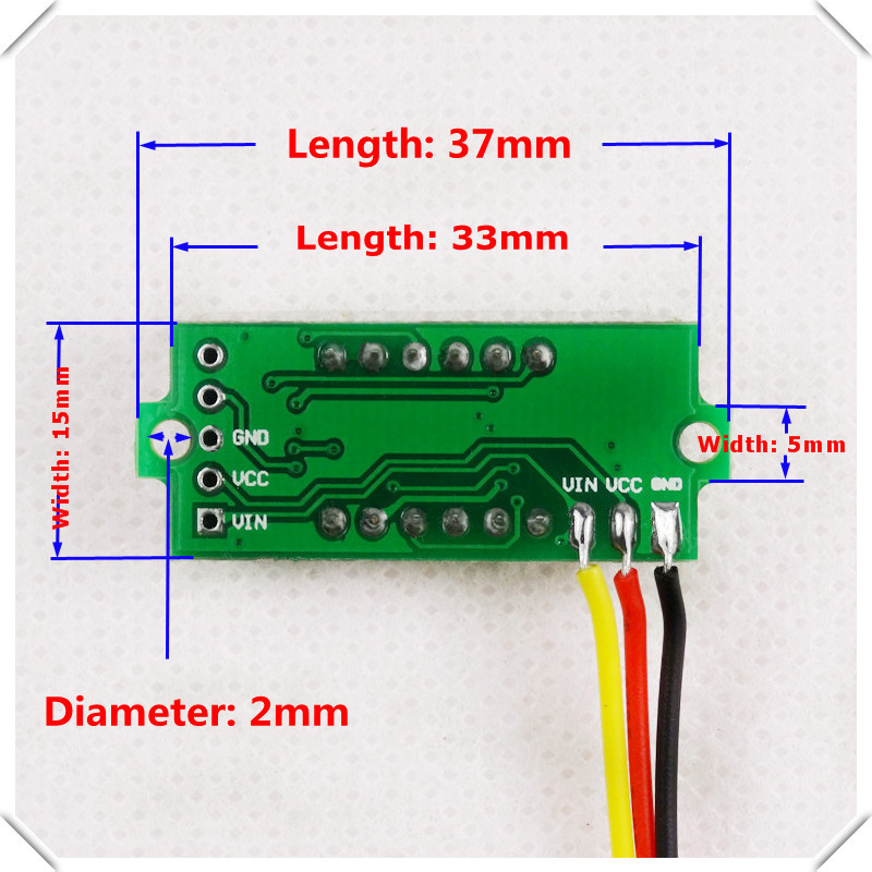 mini 4 bit 0 36 digital voltmeter 0 33v three wires voltage panel rh aliexpress com 3 wire digital voltmeter wiring wiring diagram digital voltmeter