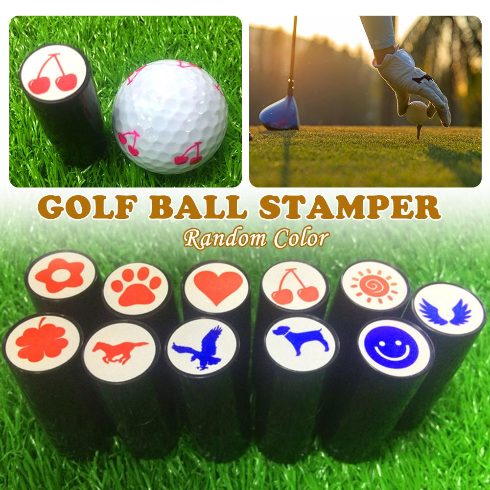 1Pcs Colorfast Quick-dry Golf Ball Stamp Stamper Long Lasting Golf Ball Marker Impression Seal Golf Club Gift Golfer Souvenir