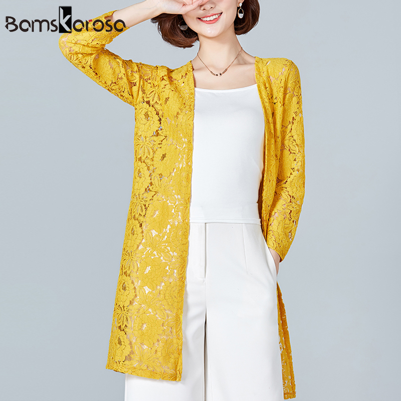 7febb3bc7768cd Lace Crochet Kimono Cardigan Women Beach Plus Size Kimono Mujer 2018 Summer  Hollow Transparent Female Shirts Sunscreen Blouse-in Blouses & Shirts from  ...