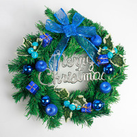 Artificial Christmas Wreaths Decorations Door Diameter 40cm Christmas Hanging Pendant Ornaments Xmas Wreath Garland Home Decor