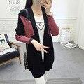 Новый Hitz женский джемпер свитер длинный участок свободной летучей мыши рукав свитера пальто Корейской версии был тонкий F103
