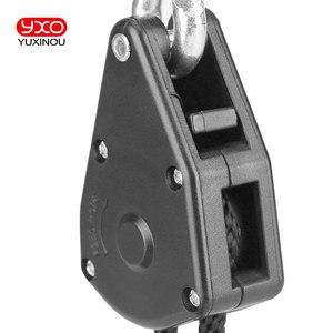 "Image 2 - Useful Adjustable 1 Pair 2 PCS 1/8"" Rope Ratchet Lights Lifters Reflector Led Grow Light Hangers Zinc Alloy Hook Plastic Pulley"