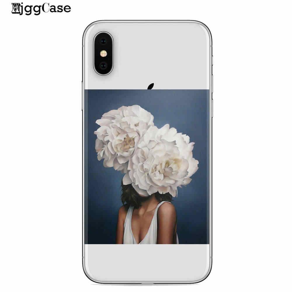 Cô gái Sexy Nghệ Thuật vẽ Hoạt Hình Silicone Mềm TPU Ốp Lưng Điện thoại Iphone X 6 6 S 6 S Plus 7 7 Plus 8 8 Plus XS MAX XR 5 5S SE Ốp Lưng