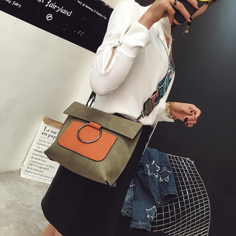 camurça patchwork bolsa bolsas feminina Ocasião : Versátil