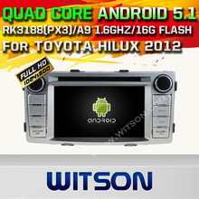 WITSON Quad Core Android 5.1 CAR RADIO for TOYOTA HILUX 2012 AUTO RADIO STEREO+CAPACTIVE SCREEN+DVR/WIFI/3G+DSP+RDS+16GB flash