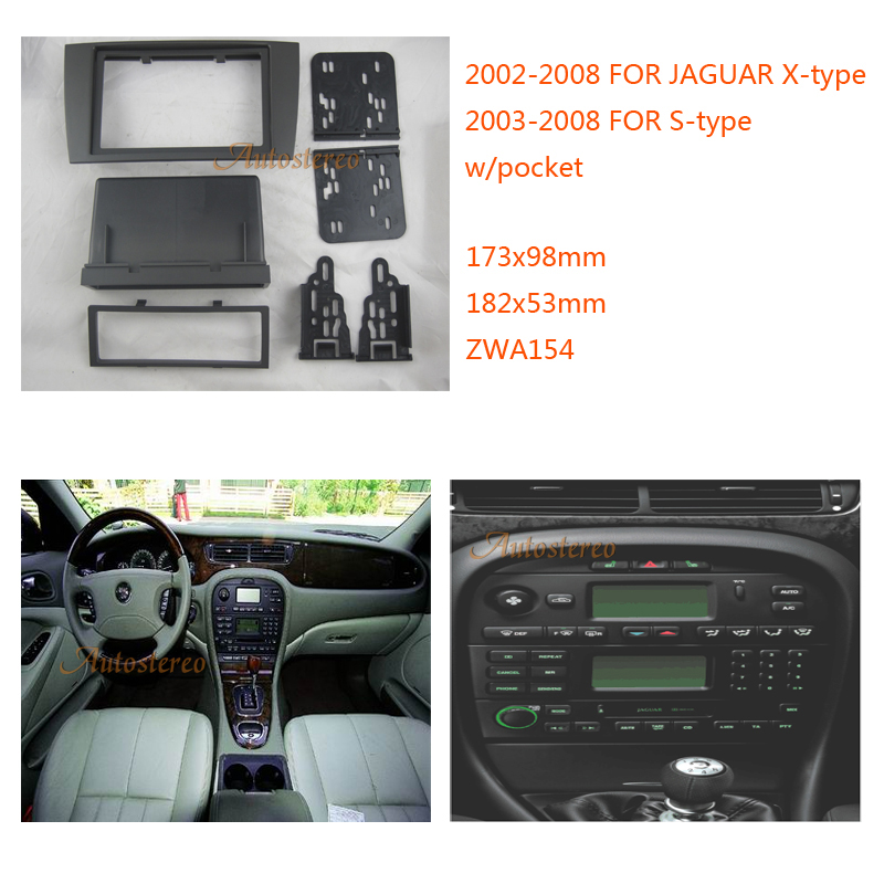 2 Din Car Radio fascia for JAGUAR X type 2002 2008 S type 2003 2008 w