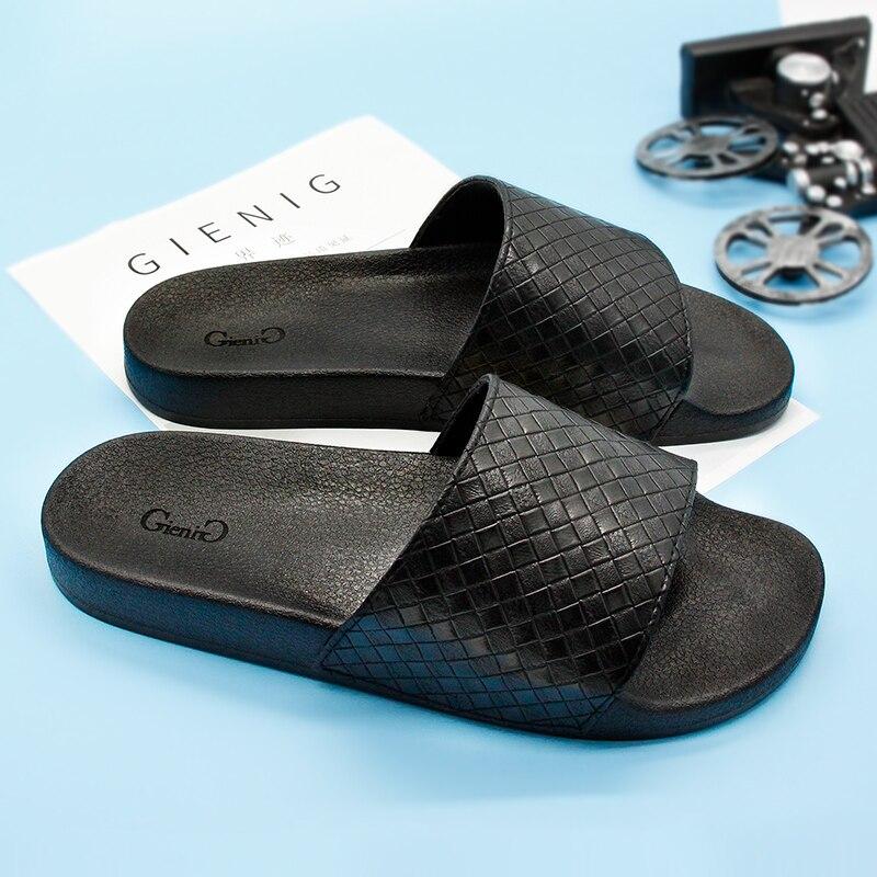 Gienig 2018 men 39 s slippers summer fashion soft bottom for Minimalist house slippers