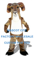 Farm Animal Mascot Tan Ram Mascot Costume Adult Size Cartoon Character Outfit Suit Fancy Dress SW829