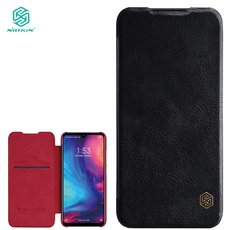 Nillkin Qin Series Leather case for Xiaomi Redmi Note 7 flip Cases Phone Bags Genuine Luxury Cover for Redmi Note 7 Pro redmi note 7 pro cover