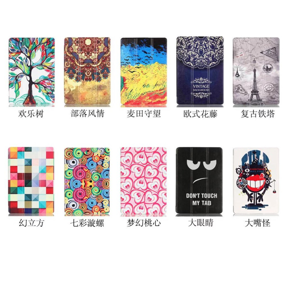 For Samsung Galaxy Tab A 10.1'' A6 T580N T585C fashion Painted Protective Stand Case for Galaxy Tab A 10.1 SM-T580/585 Tablet leopard print pattern protective plastic case w tail for samsung galaxy s4 i9500 black yellow