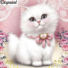 Dispaint Full Square/Round Drill 5D DIY Diamond Painting Animal cat scenery 3D Embroidery Cross Stitch Home Decor A12848