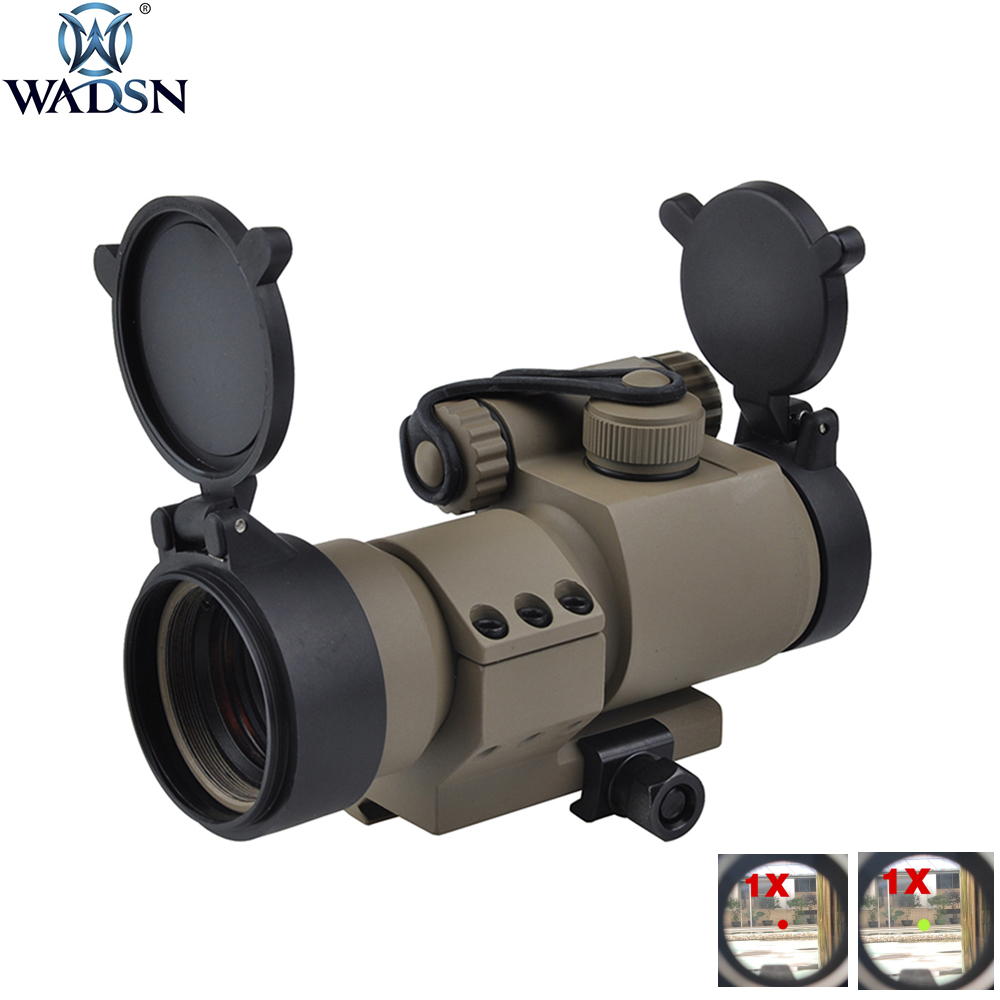 WADSN Optics Red Green Dot Sight M2 Micro M2 Replica Tactical Airsoft Riflescope Hunting Shooting Scope With L Shaped Mount