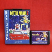 Battle Mania – Dai Gin Jou II 16 bit MD card with Retail box for Sega MegaDrive Video Game console system