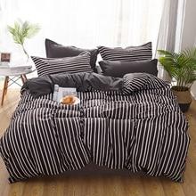 Black and White Strip Bedding Set Duvet Cover Retro Boho Bed 4-Piece Bedspreads Mens bedding boys cool bedcover