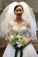 vestidos de novia Newest Romantic Wedding Dresses 2018 Luxury Cathedral Train Lace Tulle Bride Wedding Gown