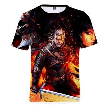 Heißer Verkauf Die Hexer 3D Spiele Kühlen Capless T-shirt Mode Frühjahr/Sommer Heißer Verkauf Männer Kurzarm Casual Drucken plus Größe 4XL