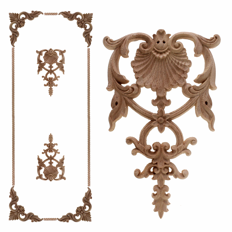 VZLX Wood Applique, European Trim, Decorative Decals, Door And Table Decorated With Carved DIY Home Decoration Accessories